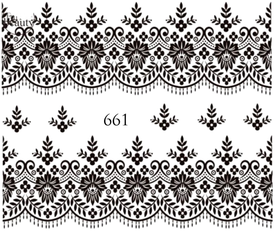 Naklejki wodne na paznokcie - 661