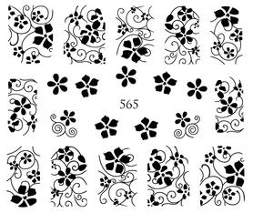 Naklejki wodne na paznokcie - 565