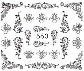Naklejki wodne na paznokcie - 560