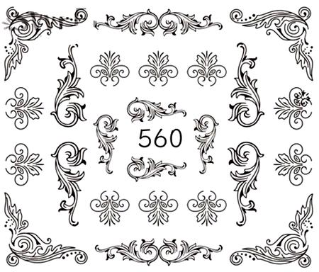 Naklejki wodne na paznokcie - 560 (1)