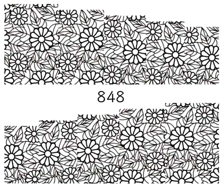 Naklejki wodne na paznokcie - 848 (1)