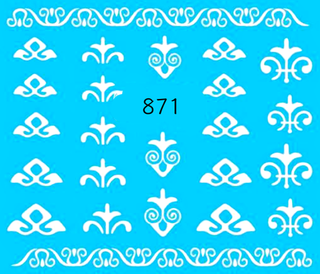 Naklejki wodne na paznokcie - 871 (1)