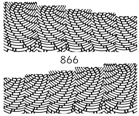 Naklejki wodne na paznokcie - 866 (1)