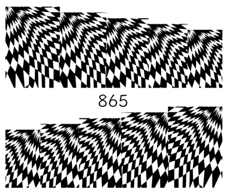Naklejki wodne na paznokcie - 865 (1)