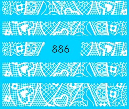 Naklejki wodne na paznokcie - 886 (1)