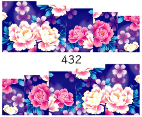 Naklejki wodne na paznokcie - 432