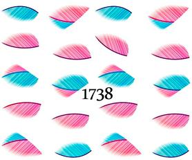 Naklejki wodne na paznokcie - 1738