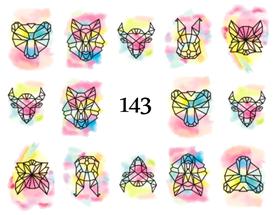 Naklejki wodne na paznokcie - 143