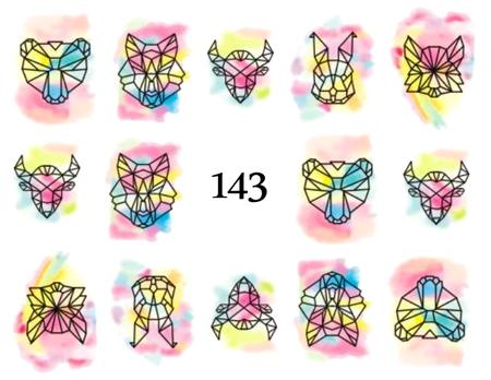 Naklejki wodne na paznokcie - 143 (1)