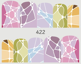 Naklejki wodne na paznokcie - 422