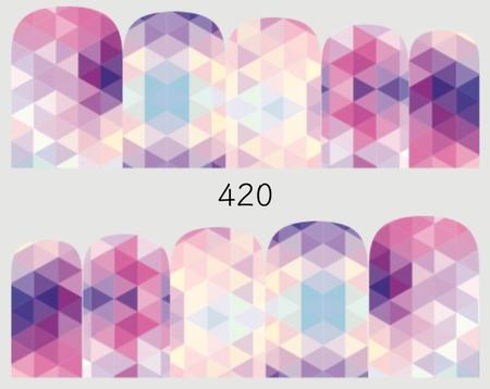 Naklejki wodne na paznokcie - 420 (1)