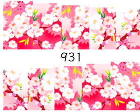 Naklejki wodne na paznokcie - 931