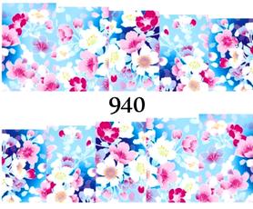 Naklejki wodne na paznokcie - 940