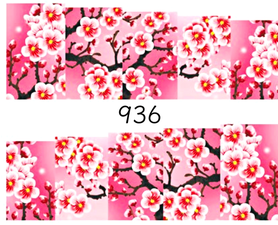 Naklejki wodne na paznokcie - 936