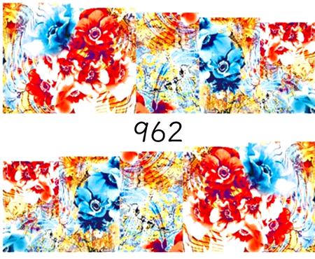 Naklejki wodne na paznokcie - 962 (1)