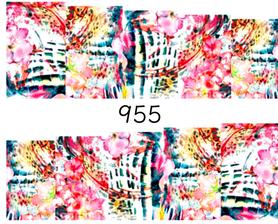 Naklejki wodne na paznokcie - 955