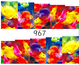 Naklejki wodne na paznokcie - 967